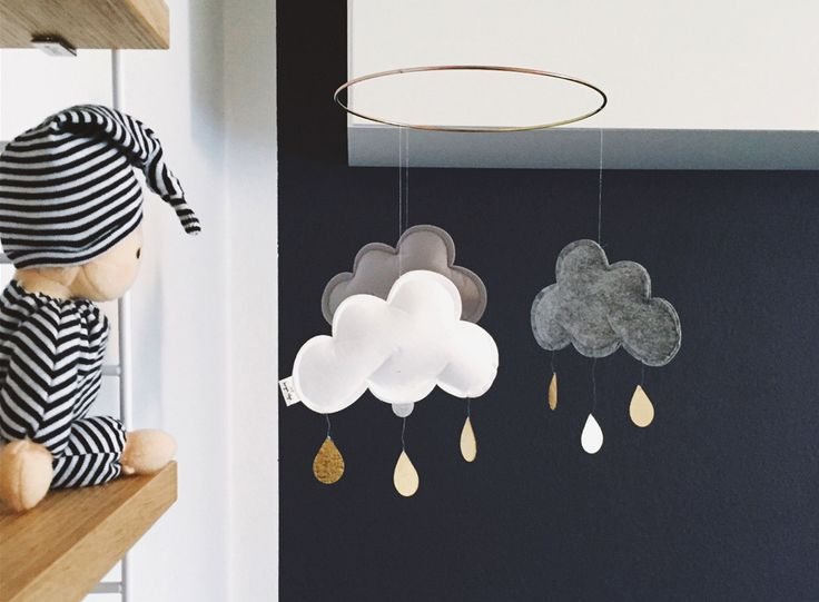 Wolken Mobile von Konges Sløejd
