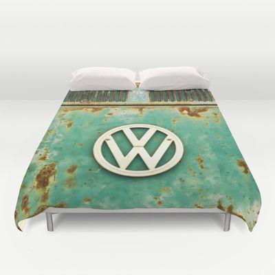 VW+Retro+Duvet+Cover+by+Alice+Gosling+-+$99.00