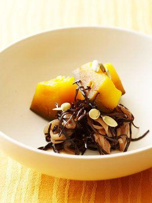 【ELLE a table】あらめとかぼちゃの煮物レシピ|エル・オンライン