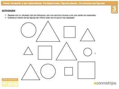 Ejercicio para identificar formas geométricas planas
