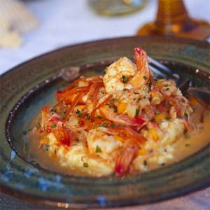Creamy Shrimp and Grits Recipe - Prob not WW approved but would be a nice special occasion dish.
