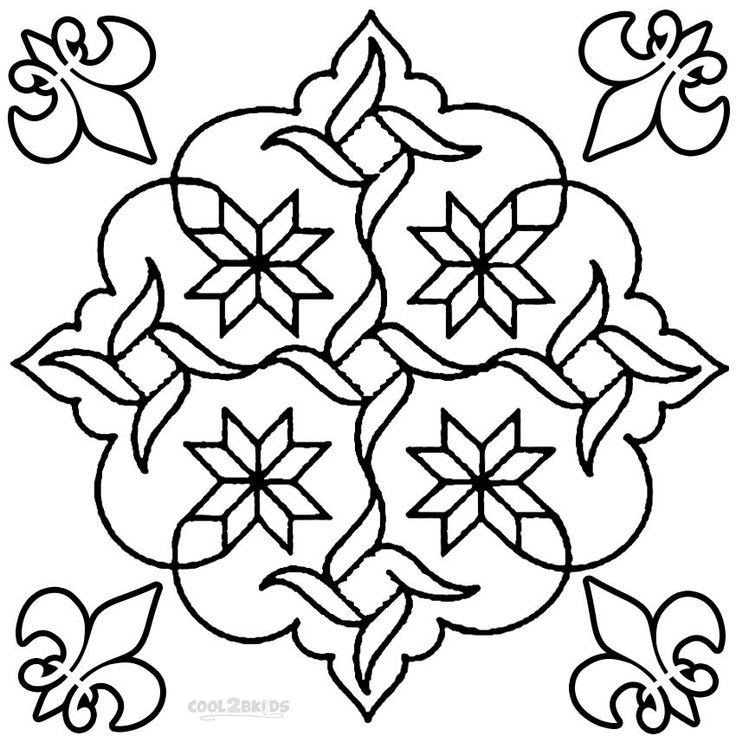 mandala colouring sheet