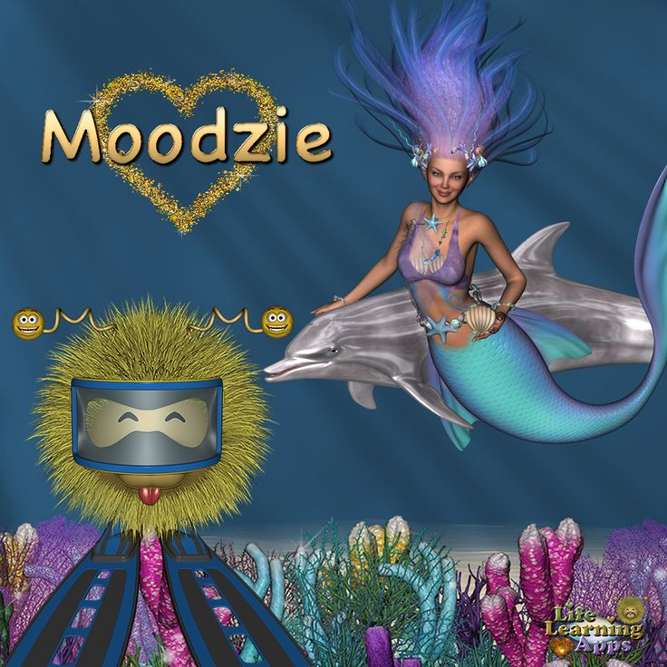 Moodzie Loves Dolphins and Mermaids - Life Learning Apps