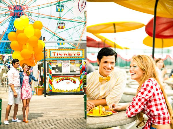 This shoot is Coney Island Fair themed, and the color is gorgeous.: