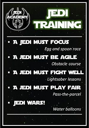Jedi training academy free poster