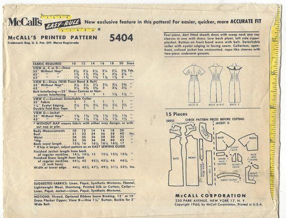 jaren 1960 Womens accessoires jurk Wiggle jurk door CloesCloset