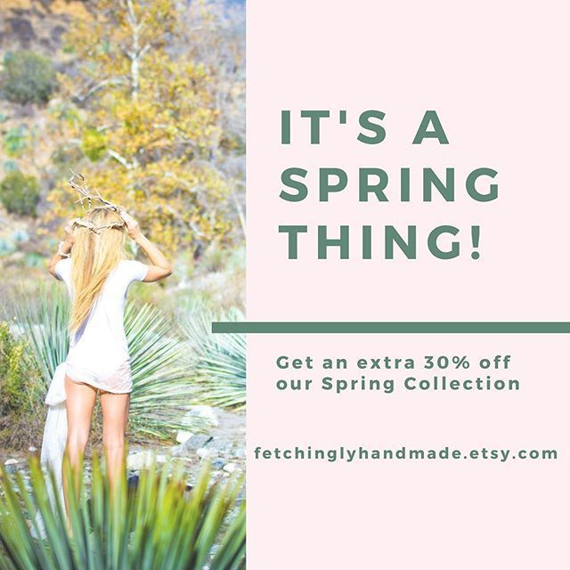 Just in time to update your winter wardrobe, save 30% off our Spring Collection until March 19th