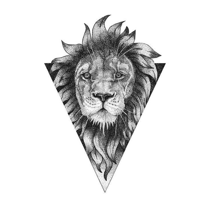 Lion Dotwork Tattoo