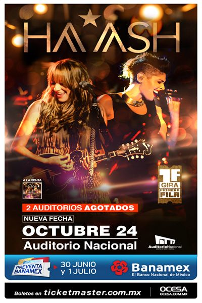 Ha*Ash, 24 de octubre, Auditorio Nacional #1FHechoRealidad