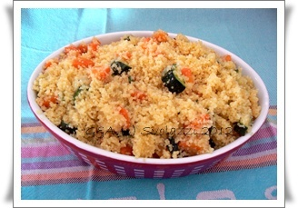 "A dish that I love to cook in the summer season is the ""cous cous"" (also called kuskusu in Arabic).    These grains of semolina are preparing for the preparation of multiple dishes.  In fact, the version can be Cous Cous with fish or meat, vegetable or mixed.  Here I present my version of vegetables.  http://www.svolazzi.it/2012/04/cous-cous-di-verdure.html"