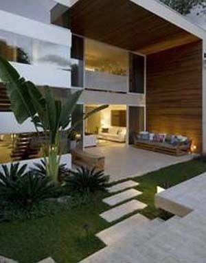 Contemporary garden and patio