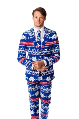 The Ugly Christmas Sweater Suit is a thing