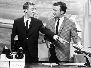 In Melbourne Tonight, or just IMT, Graham Kennedy and Bert Newton presenting a Raoul Mertin ad some of which lasted almost 20 minutes. Graham's line..'if they're hurtin they're Mertins