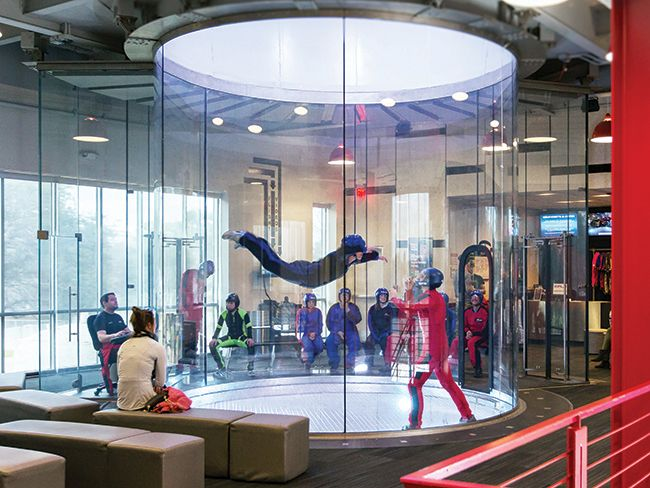 No need to jump out of a plane to skydive. Learn more about iFLY, now open in Overland Park.