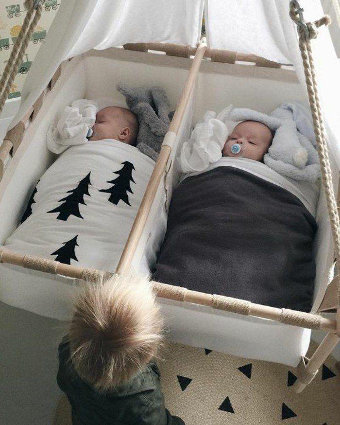 joli berceau bebe pour jumeaux, comment bien choisir le design de berceau bebe