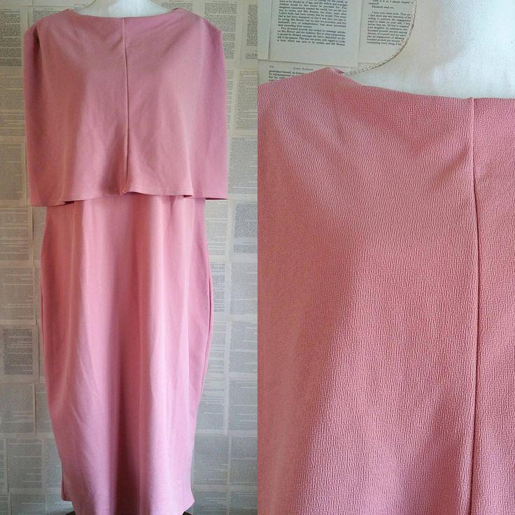 Pink 1950s Style Plus Size Evening Dress - Size 24 by MyVintageSundays on Etsy