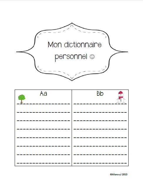 86 best 1st learn french images on pinterest learn french learn primary french immersion les cinq au quotidien lcriture de son dico perso fandeluxe Choice Image