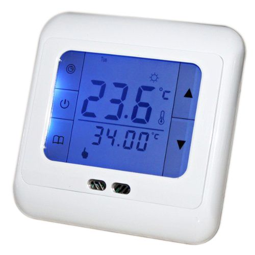 26.29$  Watch now - http://alin58.shopchina.info/1/go.php?t=32807268263 - Digital Programmable Underfloor Heating Thermostat Room Temperature Controller with Blue Touch Screen  #buychinaproducts