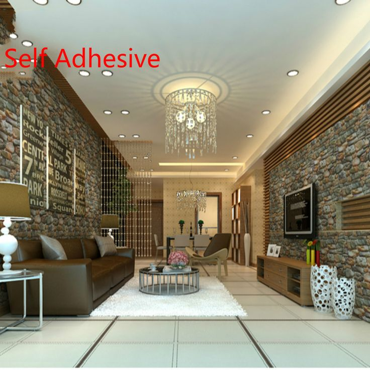 0.61M*5M 3D wallpaper adhesive waterproof goose egg stone sticky wallpapers wall background Chinese style Country