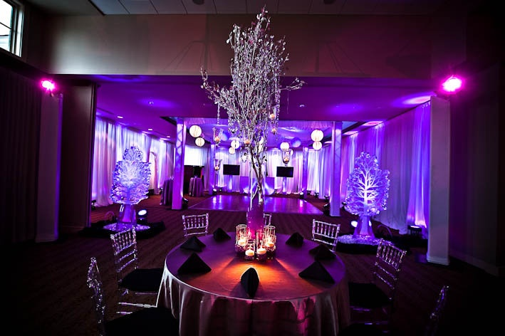 Event Planning Sweet 16 Winter Theme Purple Sweet 16