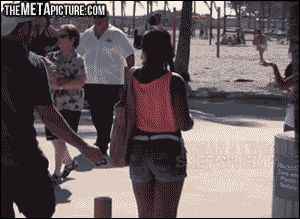 There's a B on your back...Pin all the GIFs
