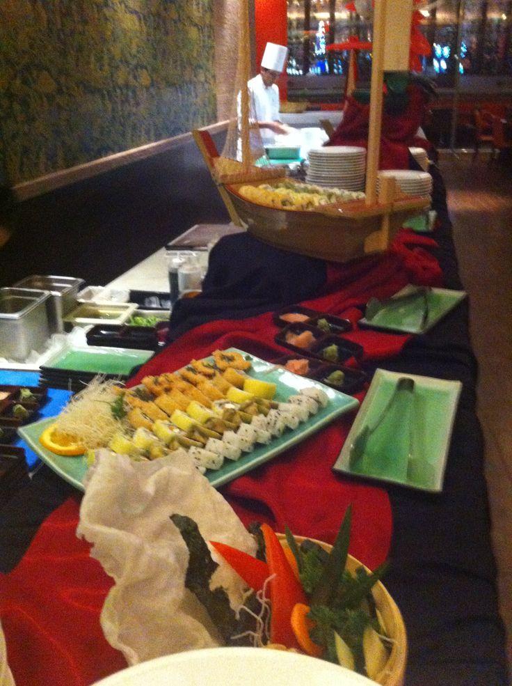 Beatiful sushi display