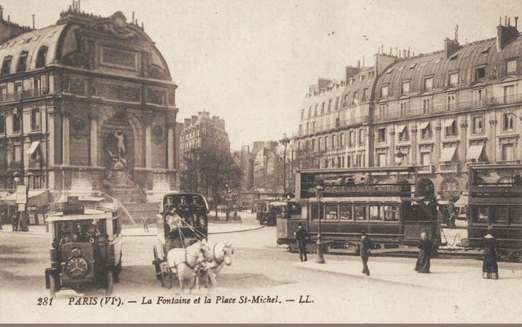place Saint-Michel - Paris 5e/6e La place Saint-Michel vers 1905.