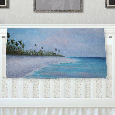 "KESS InHouse Carefree Caribbean Throw Blanket Size: 80"" L x 60"" W"