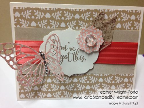 Hand Stamped By Heather, Heather Wright-Porto, Stampin' Up! Demonstrator: Happy Stampers: Butterfly Basics and Love Blossoms