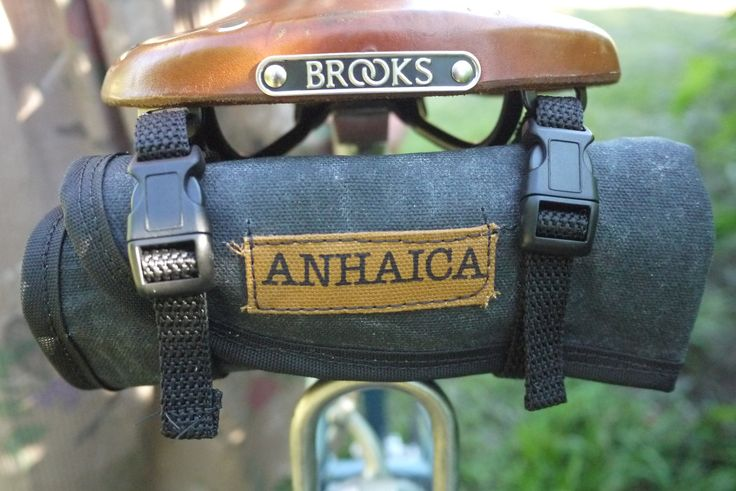 Waxed Canvas Bicycle Accessory Tool Roll, Tool Pouch, Bicycle Saddle bag. $35.00, via Etsy.