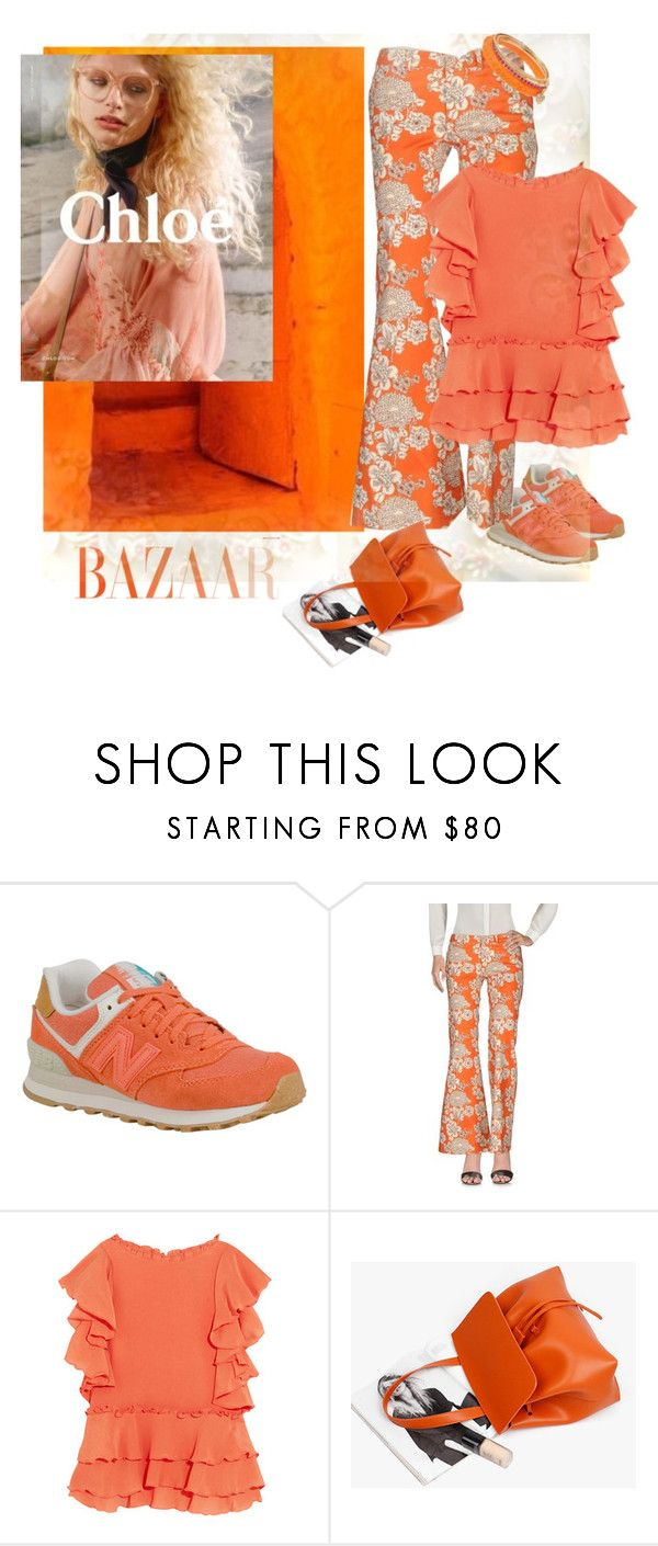 """""""Contest color - orange number 2"""" by gagenna ❤ liked on Polyvore featuring New Balance, So Nice, Apiece Apart, Betsey Johnson, yoox, theoutnet and genuinepeople"""