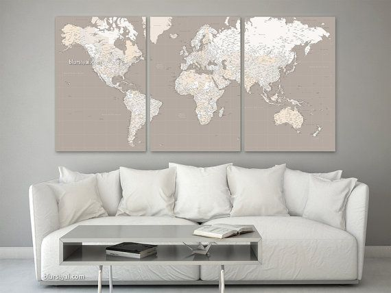 78 Best Ideas About World Map Canvas On Pinterest