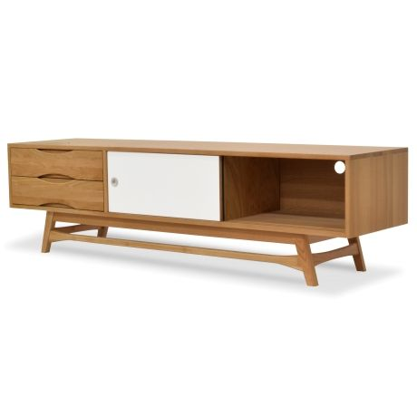 Dane TV Entertainment Unit -Lowline- White and Grey - TV Units - Living