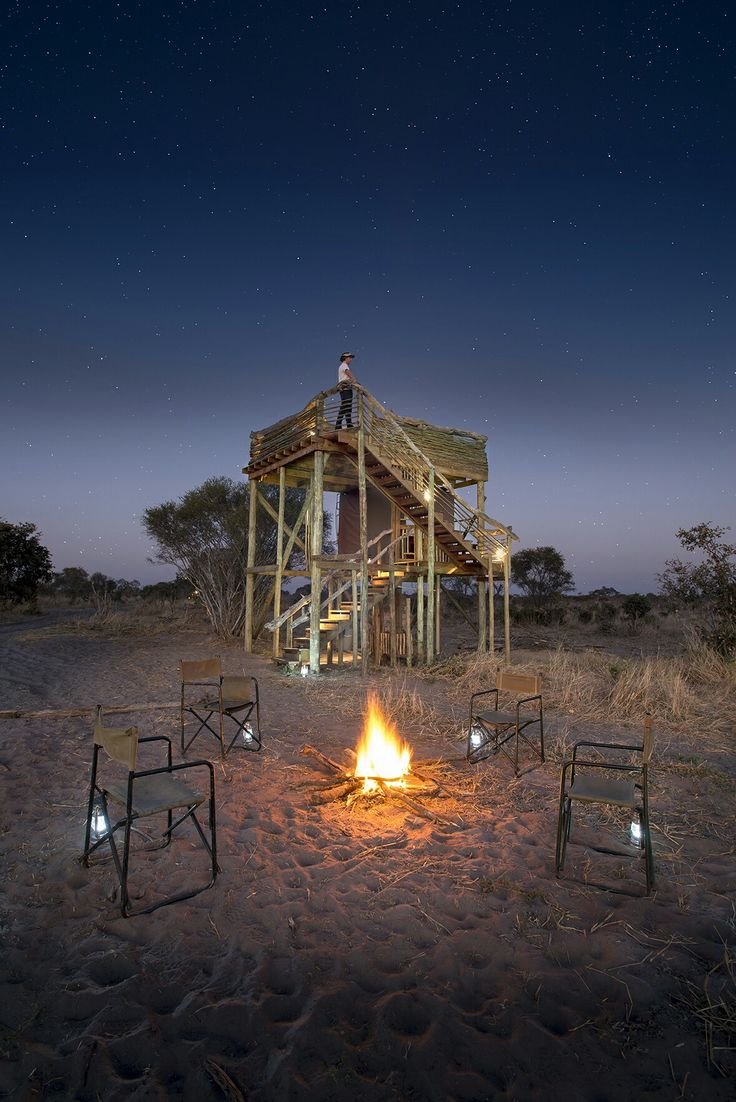 Campfire stories under a star-lit African sky in the heart of Botswana.  . . . It is here where you get to experience safaris of character - find peace and tranquility and enjoy an authentic safari in Botswana.  📷 @naturalselectiontravel  #africa #Botswana #safari #explore #dream #travel #stargazing #romance #wanderlust #moments #memories #instamoment #travelgram #beautifuldestinations #reise #vacation #passionpassport