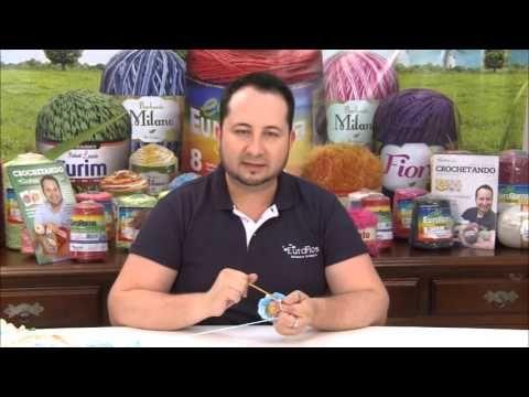 Crochetando com EuroRoma e Marcelo Nunes - Flor Mosquitinho - YouTube