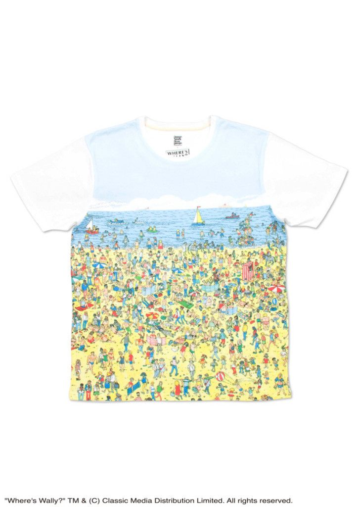 Where's Wally Short Sleeve (At The Beach) – Design Tshirts Store graniph