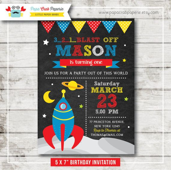 38 best Space Invitation images – Space Party Invitation