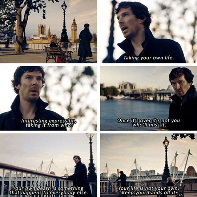 Sherlock - Series 4 - The Lying Detective Very emotional and deep considering Sherlock is the one saying this. He knows he hurt John by the Fall. #TLD