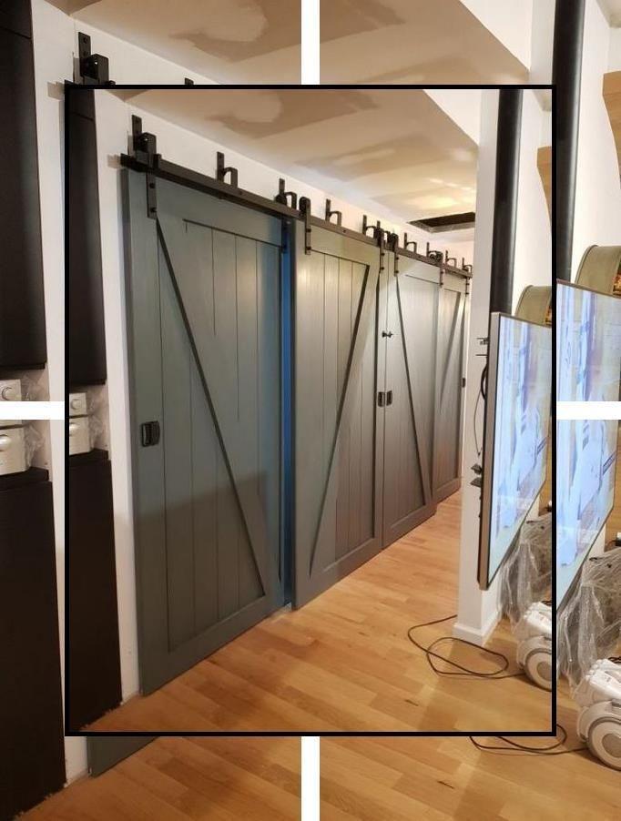 Indoor Barn Door Hardware Shed Sliding Door Track System Cost Of Barn Door Hardware In 2020 Cheap Interior Doors Sliding Doors Interior Interior Barn Doors