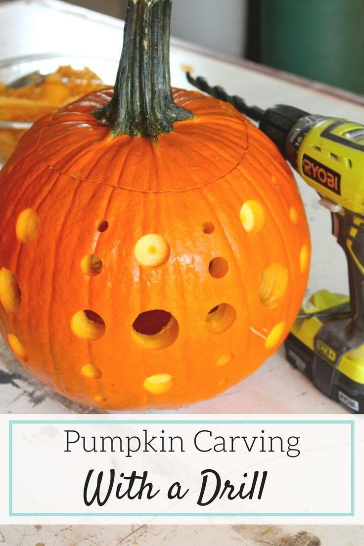 Wa walking dead pumpkin stencil - Need New Creative Pumpkin Carving Ideas Try This Drilled Pumpkin Diy For An Easy Show