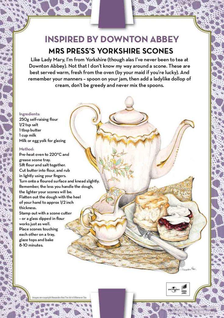 Downton Abbey- Recipe Yorkshire Scones