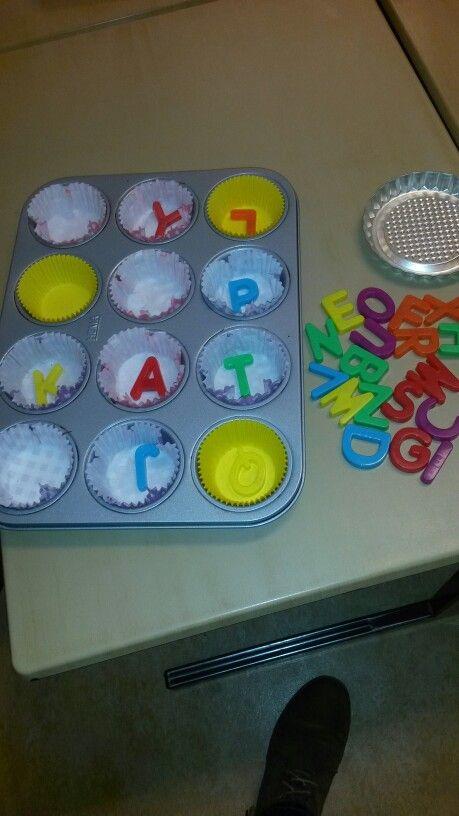 Letters .. woordjes maken bij het thema eten en drinken.