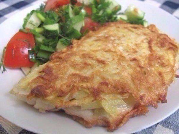 Ингредиенты:●4 тушки тилапии (или другой белой рыбы, например, трески, пикшы и т.д.)●2 яйца●4 картофелины●2 ст. л. муки + мука для обвалки●подсолнечное масло●сольПриготовление:1. Картошку трем на круп…
