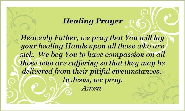 Special Prayers for Healing | here is a short printable healing prayer please pray everyday click on ...