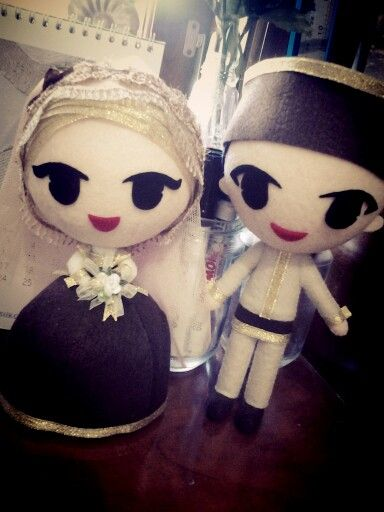 3D felt wedding doll