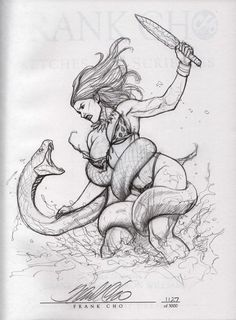 deviantART: More Like Frank Cho-Sketches and Scribbles-Book 6 by ~BREIZH-ANKOU