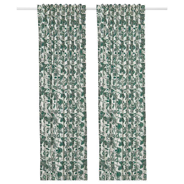 Storslagen Double Curtain Rod Set Black 47 1 4 82 5 8 In 2020