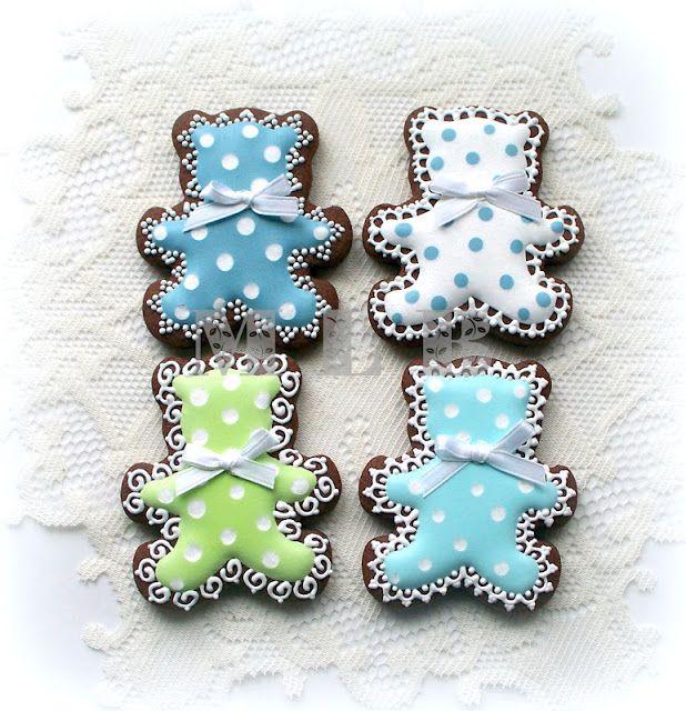My little bakery :): Baby boy shower cookies