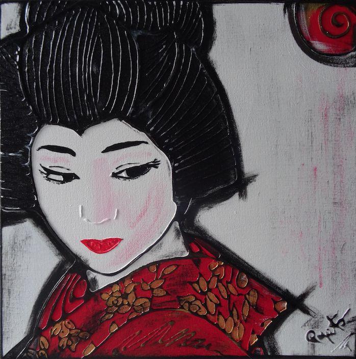 MAIKO - 40X40 cm.  Acrilic on canvas - 2015 -  #GEISHA