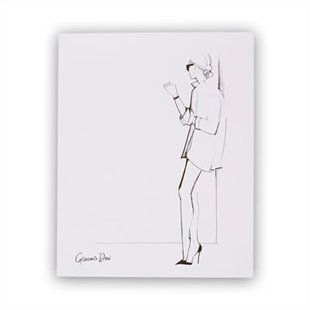 Garance Doré x Rifle Paper Co. White Collar Shirt Art Print - 8x10